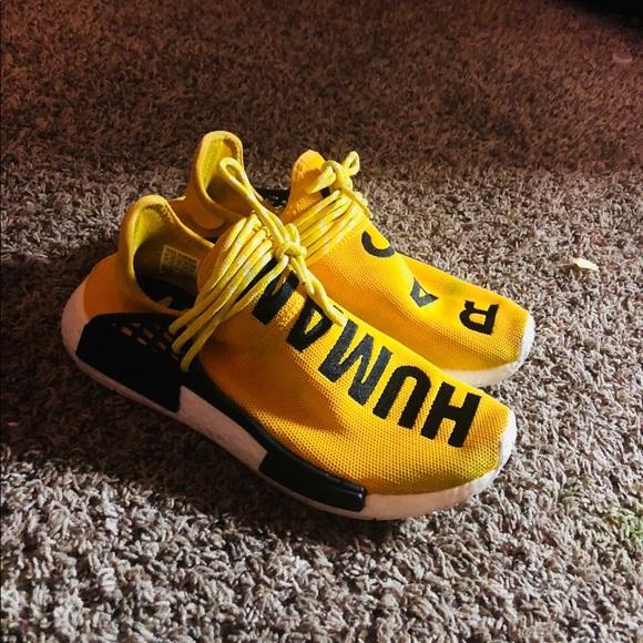 "746e8141e adidas Other - Pharrell X ADIDAS NMD HUMA RACES "" YELLOW"""